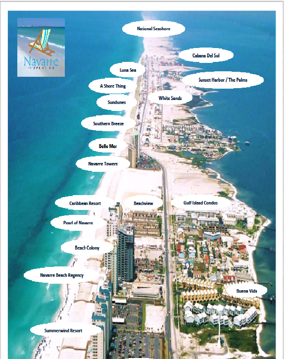 florida map showing navarre beach