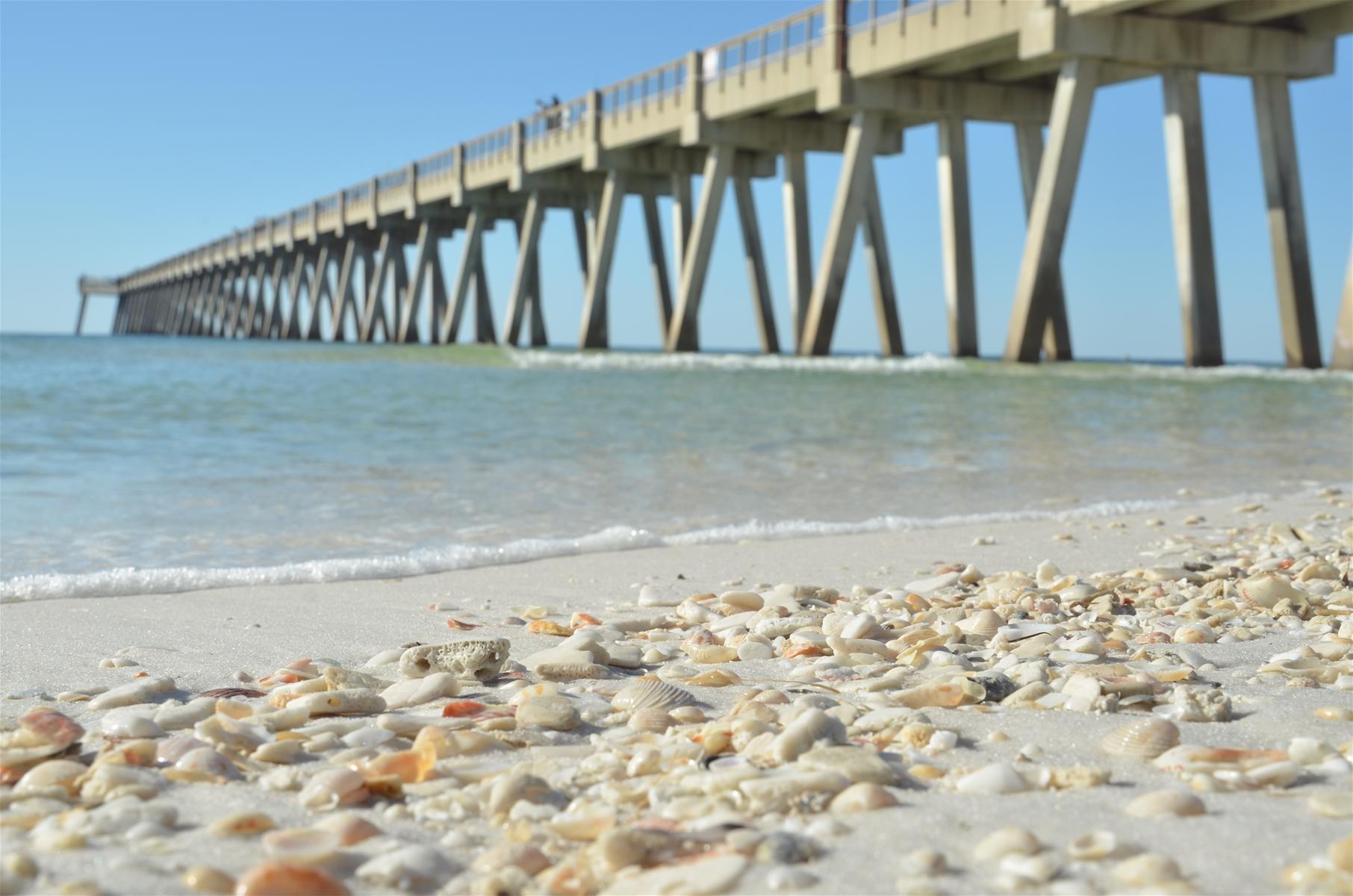 navarre beach shells and pier